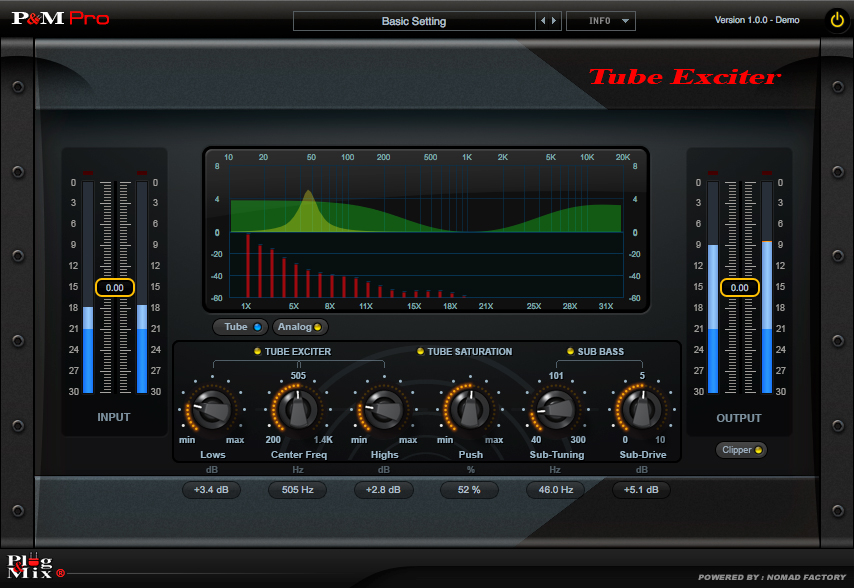 Plug & Mix Tube Exciter | AudioDeluxe