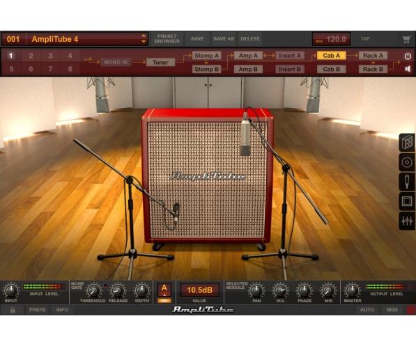 AmpliTube 4 by IK Multimedia screen shot plugin cab