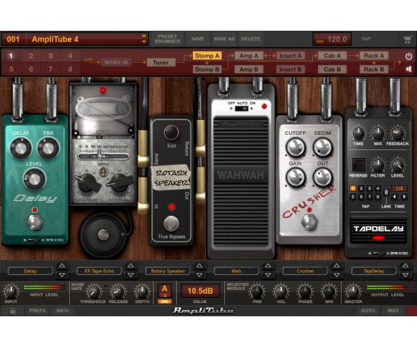 AmpliTube 4 by IK Multimedia screen shot plugin stomp