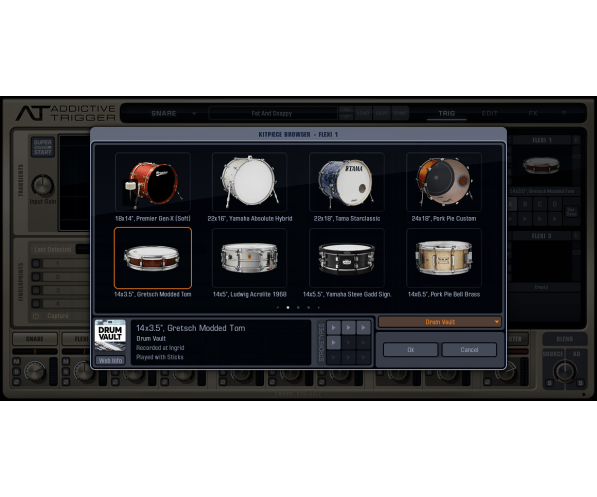 xln audio addictive trigger drum vault trigpak audiodeluxe. Black Bedroom Furniture Sets. Home Design Ideas