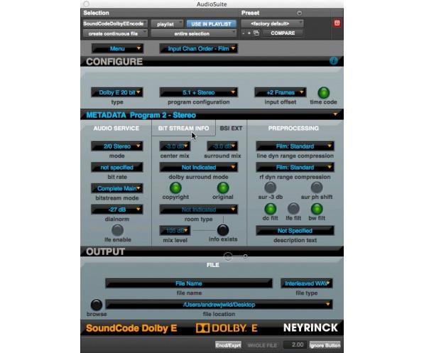 Neyrinck SoundCode For Dolby E Encoder | AudioDeluxe